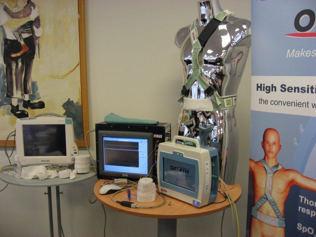 Lecteur de fréquence respiratoire par réseau de Bragg fibré - Multitel