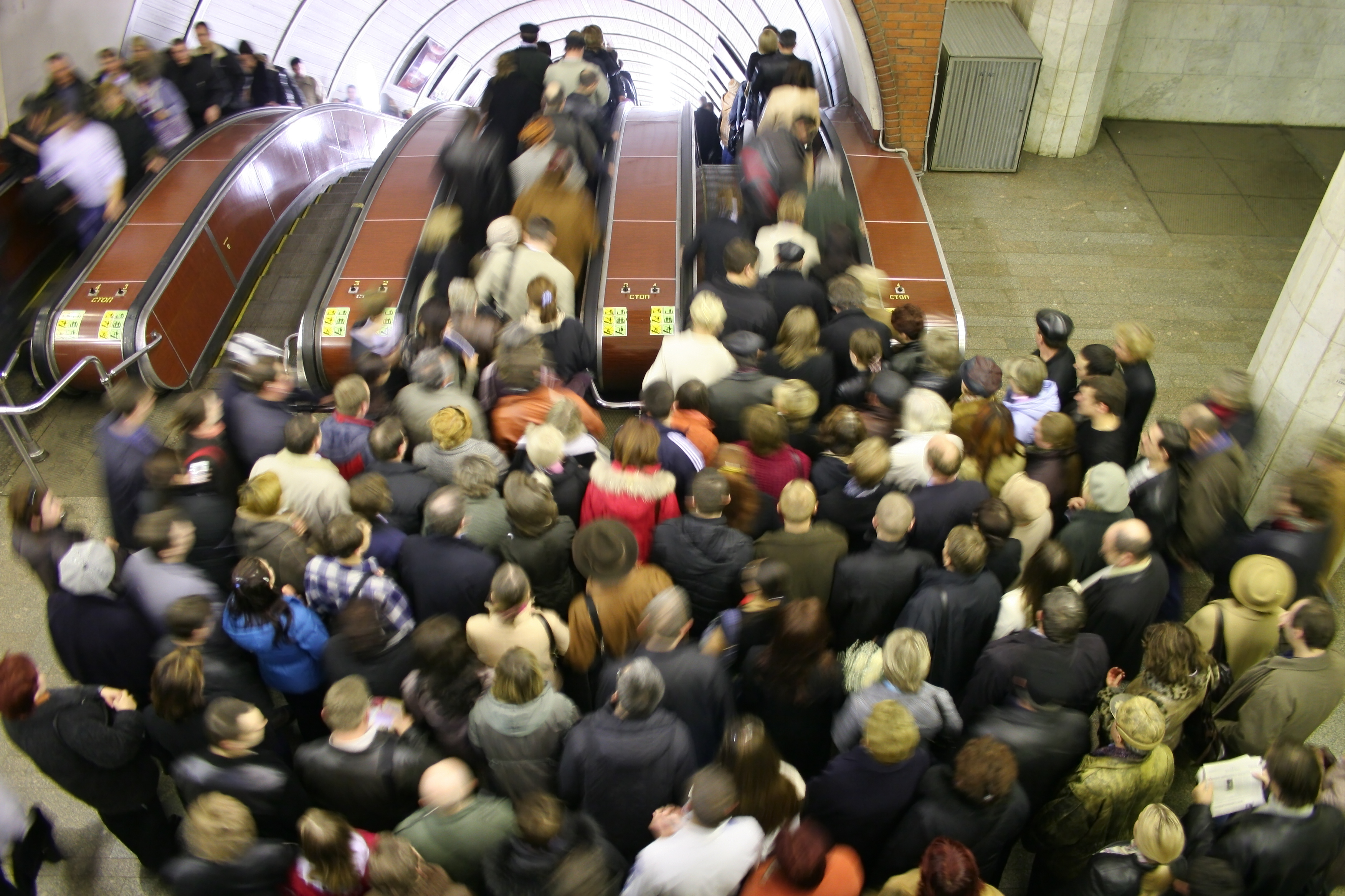 foule escalator